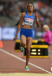 August 11, 2017 - London, England, United Kingdom - Chantel Malone of British Virgin Island jumps in the long jump final in London at the 2017 IAAF World Championships athletics at the London Stadium in London on August 11, 2017. (Credit Image: © Ulrik Pedersen/NurPhoto via ZUMA Press)