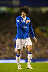 LIVERPOOL, ENGLAND - Wednesday, January 27, 2010: Everton's Marouane Fellaini in action against Sunderland during the Premiership match at Goodison Park. (Photo by: David Rawcliffe/Propaganda)