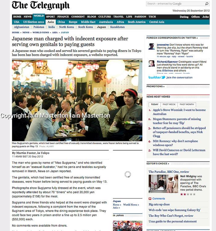 The Telegraph; Interior of restaurant in Tokyo