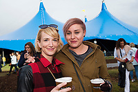 Repro Free:Claudine MotenClaregalway and Katie Lipien from Cork City  at Gavin James who kicked off the Absolut Big Top music programme at the 40th Galway International Arts Festival. The Festival runs until 30 July and includes a world-class music line-up including Brian Wilson and his 10-piece band who this Sunday will perform the legendary album Pet Sounds in its entirety along with a string of Beach Boys hits. For more see giaf.ie   Big Top. Photo:Andrew Downes, xposure .