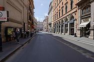 Roma 28 Aprile 2013.Le strade intorno Palazzo Chigi dove sono stati feriti due carabineri da un uomo poi arrestato, completamente isolate per motivi di sicurezza. Via del Tritone