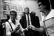 Matteo Salvini all'ingresso del Senato della Repubblica per la discussione generale per la fiducia al Governo Conte bis. Roma 10 Settembre 2019. Christian Mantuano / OneShot