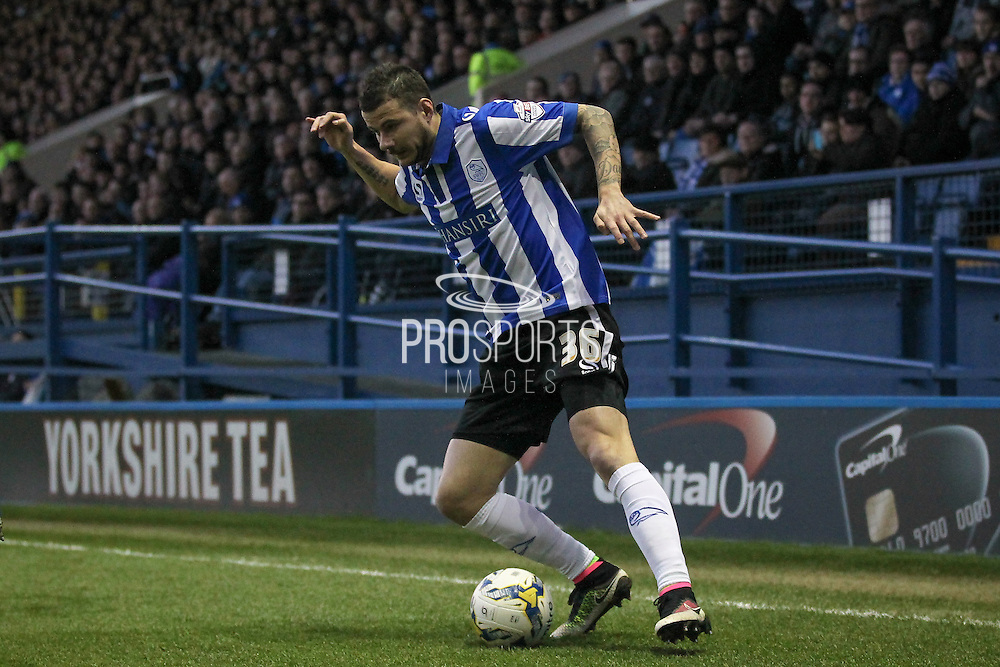 Daniel Pudil (Sheffield Wednesday) during the Sky Bet Championship match between Sheffield Wednesday and Blackburn Rovers at Hillsborough, Sheffield, England on 5 April 2016. Photo by Mark P Doherty.