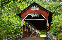 Lower Humbert Covered Bridge. Spanning Laurel Hill Creek. Laurel Highlands, Somerset County  Pennsylvania