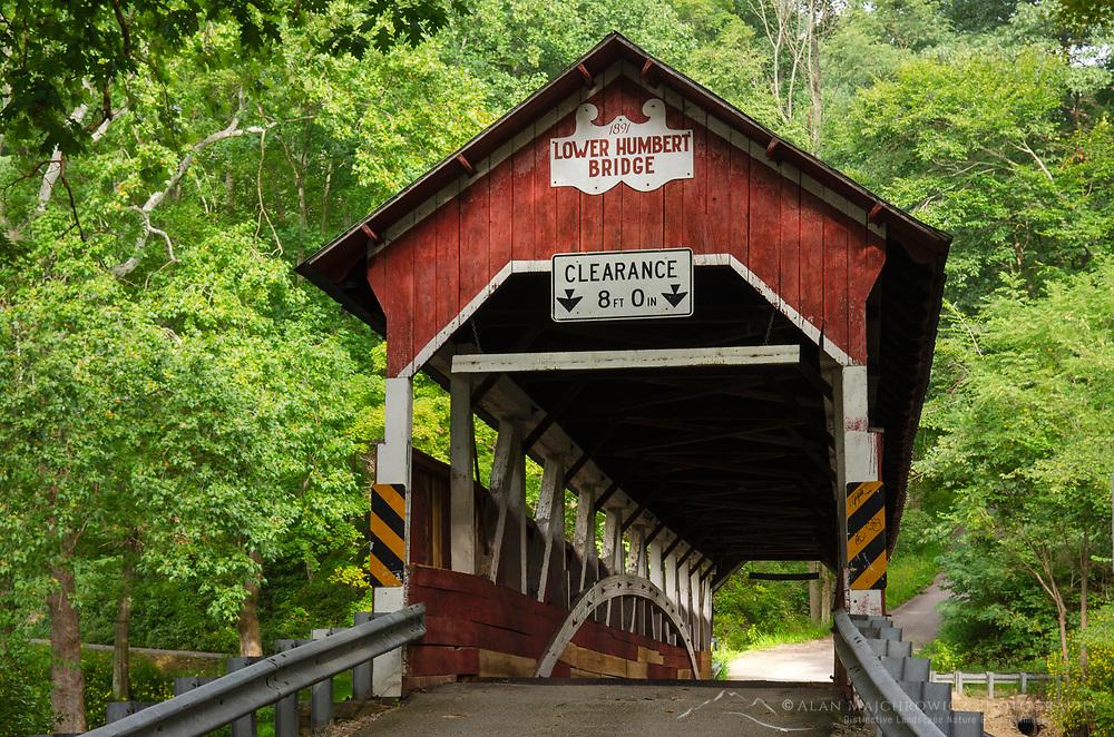 Lower Humbert Covered Bridge. Spanning Laurel Hill Creek. Laurel Highlands, Somerset County  Pennsylvania