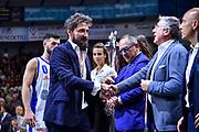 Gianmarco Pozzecco, Egidio Bianchi<br /> Umana Reyer Venezia - Banco di Sardegna Dinamo Sassari<br /> Legabasket LBA Serie A Postemobile 2018-2019 Finale Playoff Gara 7<br /> Sassari, 22/06/2019<br /> Foto L.Canu - Ciamillo-Castoria
