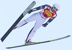 20.12.2014, Nordische Arena, Ramsau, AUT, FIS Nordische Kombination Weltcup, Skisprung, Staffel, im Bild Maxime Laheurte (FRA) // during Ski Jumping of FIS Nordic Combined World Cup, at the Nordic Arena in Ramsau, Austria on 2014/12/20. EXPA Pictures © 2014, EXPA/ Martin Huber