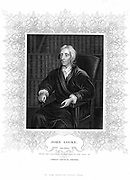 John Locke (1632-1704) English philosopher. Engraving portrait by Kneller.