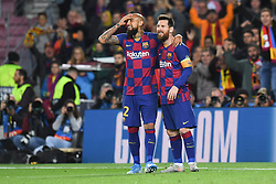 November 5, 2019, Barcelone, Espagne: FOOTBALL: FC Barcelone vs SK Slavia Praha - Champions League - 05/11/2019.Lionel Messi, Arturo Vidal. (Credit Image: © Panoramic via ZUMA Press)