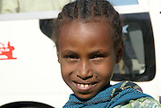 Portrait of a young local girl. Axum, Ethiopia