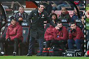Unai Emery, Head Coach of Arsenal FC during the Premier League match between Bournemouth and Arsenal at the Vitality Stadium, Bournemouth, England on 25 November 2018.