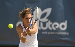 NOTTINGHAM, ENGLAND - Saturday, June 13, 2009: Olga Savchuk (UKR) in action on day three of the Tradition Nottingham Masters tennis event at the Nottingham Tennis Centre. (Pic by David Rawcliffe/Propaganda)