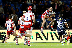 Charlie Sharples of Gloucester Rugby catches the ball - Mandatory by-line: Matt McNulty/JMP - 16/09/2016 - RUGBY - Heywood Road Stadium - Sale, England - Sale Sharks v Gloucester Rugby - Aviva Premiership