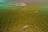Aerial View of boats, Florida Keys, Florida USA