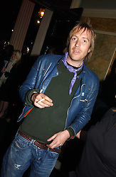 Actor RHYS IFANS at a party to celebrate Pamela Anderson's new role as spokesperson and newest face of the MAC Aids Fund's Viva Glam V Campaign held at Home House, Portman Square, London on 21st April 2005.<br />