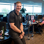 JUNE 15, 2017--SUNRISE, FLORIDA<br /> Shawn Thornton, a former Boston Bruins player known as the team's enforcer, is now the Florida Panthers VP for business operations. Here  in his office space.<br /> (Photo by Angel Valentin/Freelance)
