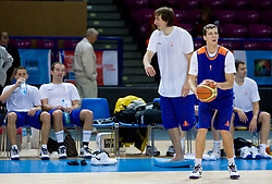 Goran Dragic  at practice of Slovenian National Basketball team in Arena Torwar two days before the beginning of the Eurobasket 2009, on September 05, 2009 in Warsaw, Poland. (Photo by Vid Ponikvar / Sportida)