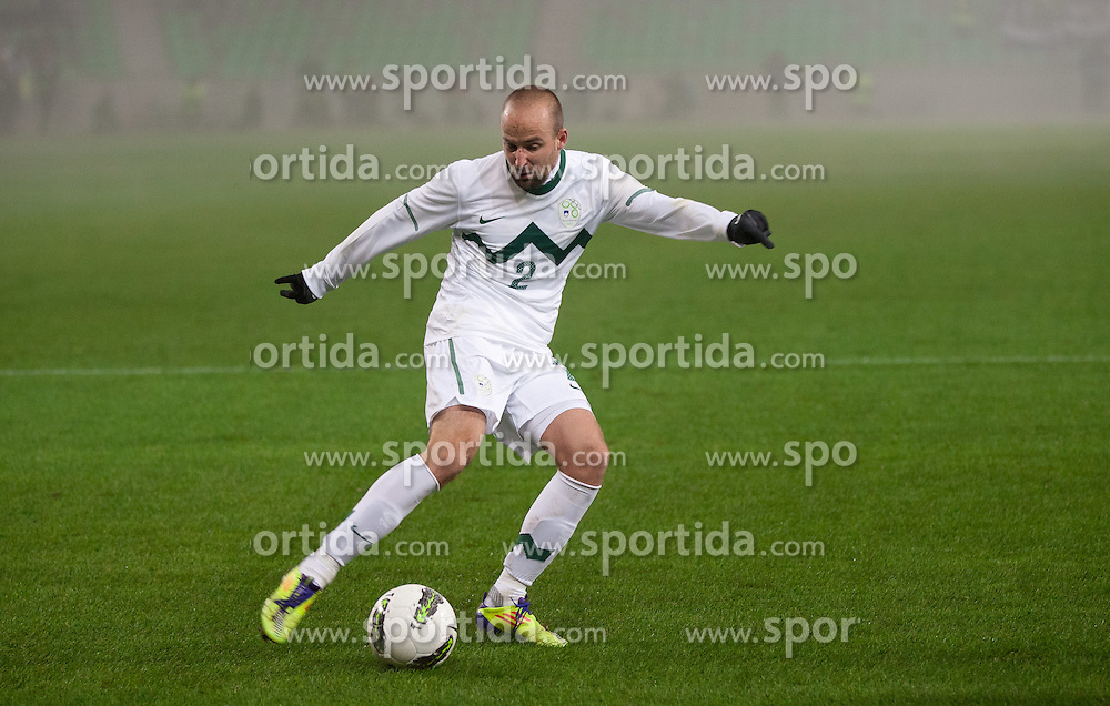 Miso Brecko of Slovenia during friendly football match between National teams of USA and Slovenia, on November 15, 2011 in SRC Stozice, Ljubljana, Slovenia.  (Photo By Vid Ponikvar / Sportida.com)