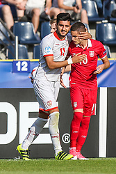 June 20, 2017 - Bydgoszcz, Poland - Mijat Gacinovic (SRB), Daniel Avramovski (MKD) during the UEFA European Under-21 Championship Group C match between Czech Republic and Italy at Tychy Stadium on June 21, 2017 in Tychy, Poland. (Credit Image: © Foto Olimpik/NurPhoto via ZUMA Press)