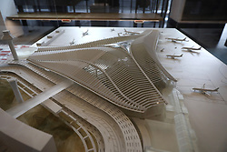 March 28, 2019 - USA - A proposal by Studio ORD as models for the expansion of O'Hare International Airport are on display Thursday, Jan. 17, 2019 at the Chicago Architecture Foundation. (Credit Image: © Brian Cassella/Chicago Tribune/TNS via ZUMA Wire)