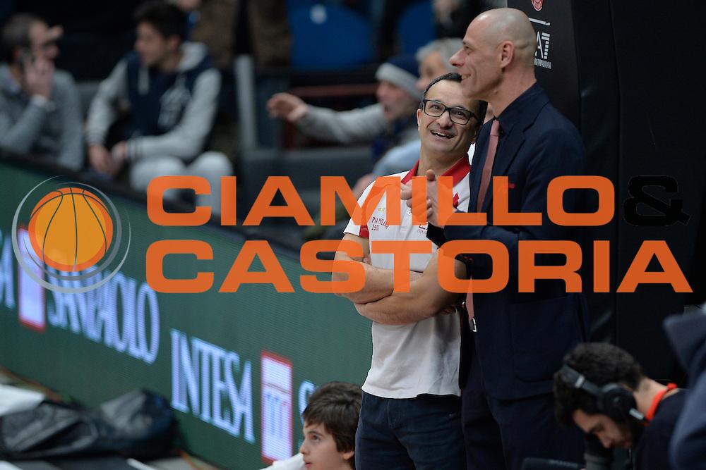 Giustino Danesi,Flavio Portalupi<br /> Olimpia EA7 Emporio Armani Milano vs Cska Moscow<br /> Euroleague 2016/2017<br /> Milano 08/12/2016<br /> Foto Ciamillo-Castoria