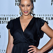 Elarica Johnson attend TriForce Short Festival, on 30 November 2019, at BFI Southbank, London, UK.