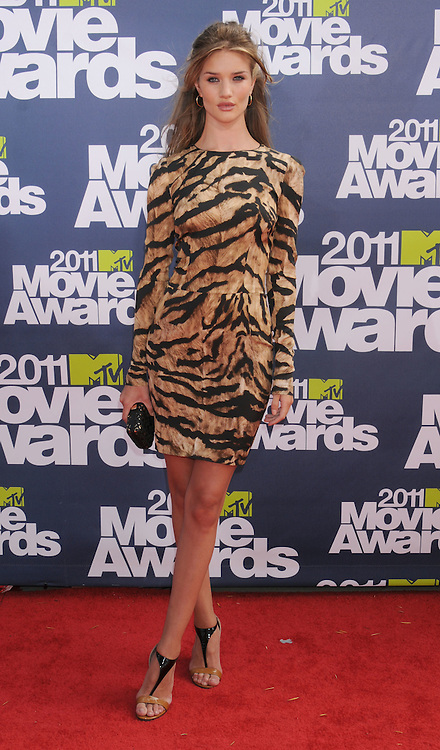 """ROSIE HUNTINGTON-WHITELEY.attends the 2011 MTV Movie Awards at the Gibson Amphitheatre on June 5, 2011 in Universal City, California.Mandatory Photo Credit: ©Crosby/Newspix International. .**ALL FEES PAYABLE TO: """"NEWSPIX INTERNATIONAL""""**..PHOTO CREDIT MANDATORY!!: NEWSPIX INTERNATIONAL(Failure to credit will incur a surcharge of 100% of reproduction fees)..IMMEDIATE CONFIRMATION OF USAGE REQUIRED:.Newspix International, 31 Chinnery Hill, Bishop's Stortford, ENGLAND CM23 3PS.Tel:+441279 324672  ; Fax: +441279656877.Mobile:  0777568 1153.e-mail: info@newspixinternational.co.uk"""