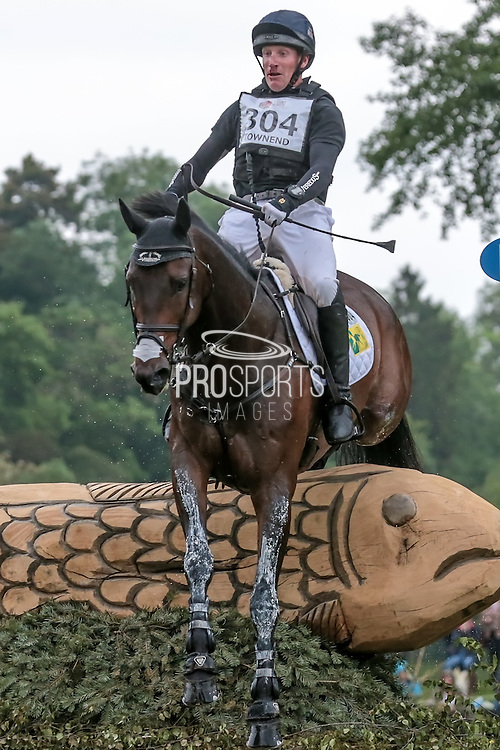 NOTE WORTHY ridden by a bloody nosed Oliver Townend at Bramham International Horse Trials 2016 at  at Bramham Park, Bramham, United Kingdom on 11 June 2016. Photo by Mark P Doherty.