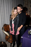 GEMMA GREGORY; ROBERT OUTCH, Frieze week party at the Sanderson hotel hosted by Andrew Kreps Gallery and Anton Kern Gallery . Billiard Room at Sanderson. London. 16 October 2010. <br /> <br /> -DO NOT ARCHIVE-© Copyright Photograph by Dafydd Jones. 248 Clapham Rd. London SW9 0PZ. Tel 0207 820 0771. www.dafjones.com.