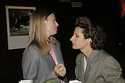 Lyn Harris and Louise Constad, Launch of perfume: L'Air de Rien, The Arts Club, 40 Dover Street, London,New fragrance created for Birkin by perfumier Miller Harris. 4 September 2006. ONE TIME USE ONLY - DO NOT ARCHIVE  © Copyright Photograph by Dafydd Jones 66 Stockwell Park Rd. London SW9 0DA Tel 020 7733 0108 www.dafjones.com