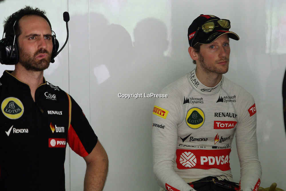 &copy; Photo4 / LaPresse<br /> 29/3/2014 Sepang, Malaysia<br /> Sport <br /> Grand Prix Formula One Malaysia 2014<br /> In the pic: Romain Grosjean (FRA) Lotus F1 Team E22