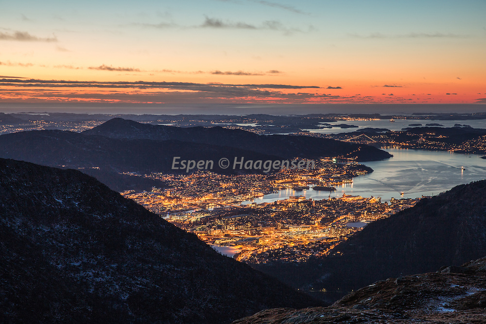 Bergen from Vidden