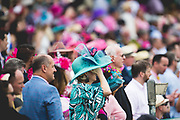 May 3, 2019: 145th Kentucky Oaks at Churchill Downs. Race goers enjoy racing action