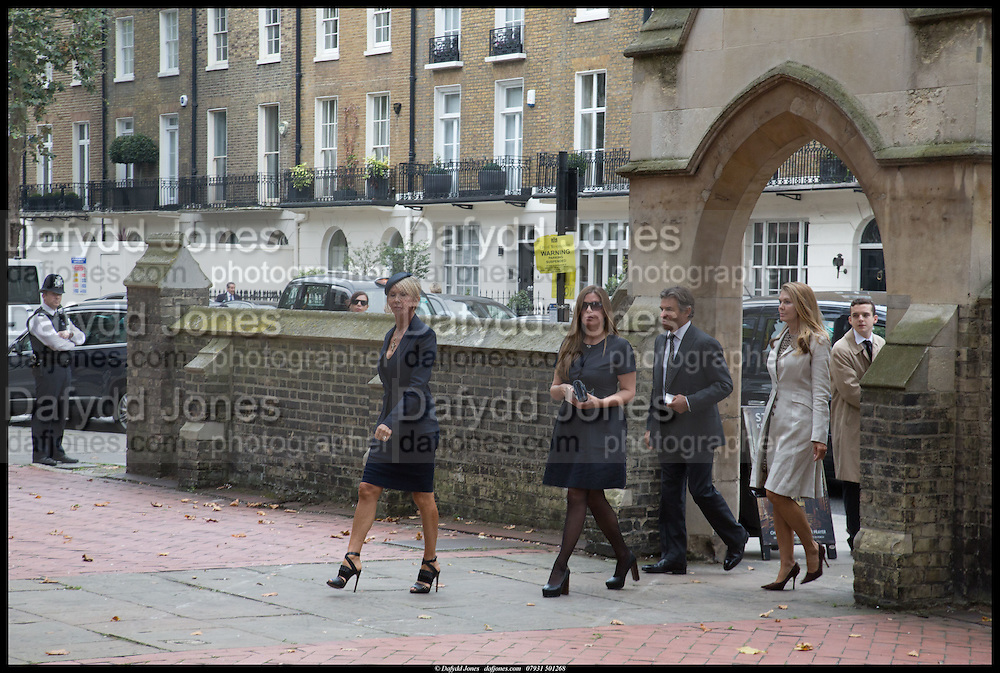 Memorial service for Mark Shand.  . St. Paul's Knightsbridge. September 11 2014.
