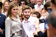 Queen Letizia of Spain at the opening of the summer courses of the International School of Music of the Prince of Asturias Foundation at Conservatory of Music 'Eduardo Martinez Torner' in Oviedo, Asturias.