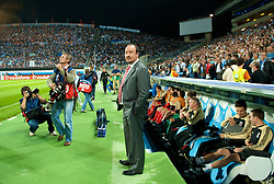 MARSEILLE, FRANCE - Tuesday, September 16, 2008: Liverpool's manager Rafael Benitez before the opening UEFA Champions League Group D match against Olympique de Marseille at the Stade Velodrome. (Photo by David Rawcliffe/Propaganda)