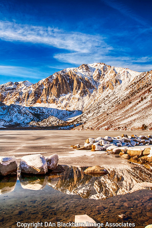 Winter Snow at Convict Lake, Eastern Sierra, California