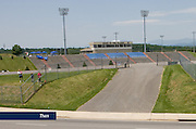 The west bleachers of Williams Stadium, photographed in May, 2007.