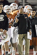 Westwood head coach Anthony Wood Friday at Dragon Stadium.  (LOURDES M SHOAF for Statesman.)