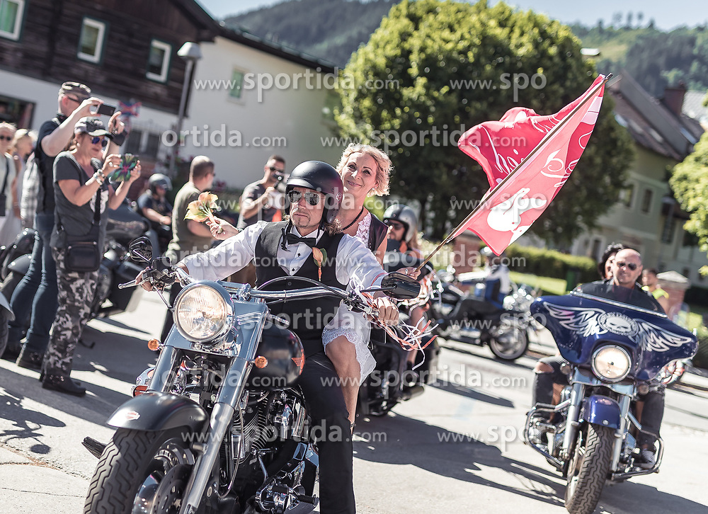 28.06.2019, Schladming, AUT, Rock the Roof 2019, im Bild Biker Hochzeit // biker wedding during the Rock the Roof Biker Meeting in Schladming, Austria on 2019/06/28. EXPA Pictures © 2019, PhotoCredit: EXPA/ JFK