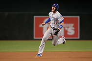 Aug 11, 2017; Phoenix, AZ, USA; Chicago Cubs infielder Kris Bryant (17) runs to third base in the first inning against the Arizona Diamondbacks at Chase Field. Mandatory Credit: Jennifer Stewart-USA TODAY Sports