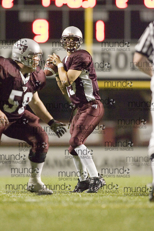 Joshua Sacobie of the University of Ottawa Gee-Gees Football team playing against McMaster University in OUA regular season football action.