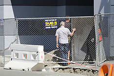 Christchurch-Passers by injured by flying plywood on building site