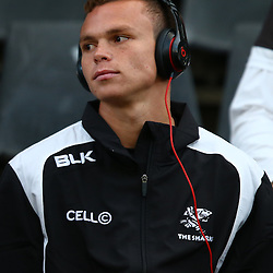 DURBAN, SOUTH AFRICA, 9,JULY, 2016 Curwin Bosch of the Cell C Sharks during The Cell C Sharks vs Toyota Cheetahs  Super Rugby Match at Growthpoint Kings Park in Durban, South Africa. (Photo by Steve Haag)<br /> <br /> images for social media must have consent from Steve Haag