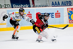 06.03.2016, Ice Rink, Znojmo, CZE, EBEL, HC Orli Znojmo vs Dornbirner Eishockey Club, Viertelfinale, 5. Spiel, im Bild v.l. James Arniel (Dornbirner) Martin Podesva (HC Orli Znojmo) // during the Erste Bank Icehockey League 5th quarterfinal match between HC Orli Znojmo and Dornbirner Eishockey Club at the Ice Rink in Znojmo, Czech Republic on 2016/03/06. EXPA Pictures © 2016, PhotoCredit: EXPA/ Rostislav Pfeffer
