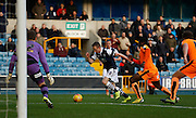 Millwall FC Midfielder Shane Ferguson gets in a promising position during the Sky Bet League 1 match between Millwall and Colchester United at The Den, London, England on 21 November 2015. Photo by Andy Walter.