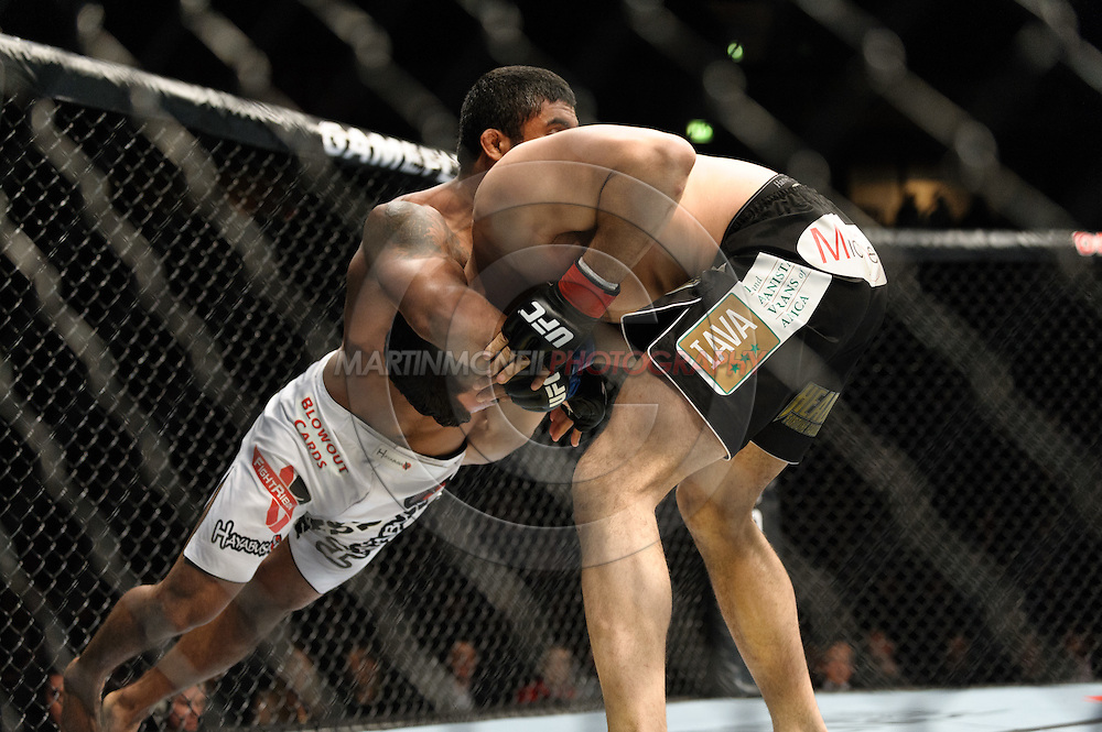 OBERHAUSEN, GERMANY, NOVEMBER 13, 2010: Carlos Eduardo Rocha and Kris McCray during UFC 122 inside the Konig Pilsner Arena in Oberhausen, Germany.