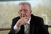 23 MAR 2012, BERLIN/GERMANY:<br /> Winfried Kretschmann, B90/Gruene, Ministerpraesident  Baden-Wuerttemberg, waehrend einem Interview,Landesvertertung Baden-Wuerttemberg<br /> IMAGE: 20120323-03-004