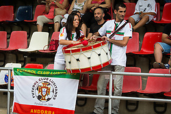 Spectators during football match between NK Domzale and FC Lusitanos Andorra in second leg of UEFA Europa league qualifications on July 7, 2016 in Andorra la Vella, Andorra. Photo by Ziga Zupan / Sportida