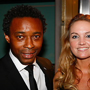 NLD/Amsterdam/20091121 - JFK Great men of the Year Gala 2009, Regi Blinker en partner Merije van der Wind